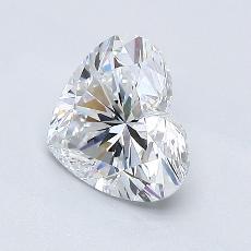 Pierre recommandée n°2: Diamant taille cœur 1,01carat