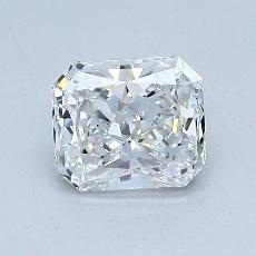 1.04-Carat Radiant Diamond Very Good E VVS1