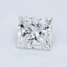 0.80-Carat Princess Diamond Very Good F VS1