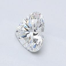 0,70-Carat Heart Diamond Very Good F VVS1