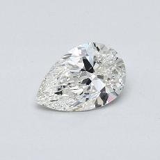 0,50-Carat Pear Diamond Very Good H VS1