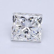 1.30 Carat Princesa Diamond Muy buena F VVS2