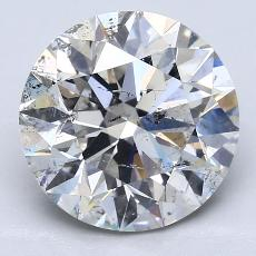 4.02-Carat Round Diamond Ideal I SI2