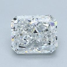 Pierre cible: Diamant taille radiant 2,01 carats