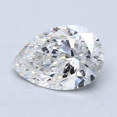 0.96-Carat Pear Diamond Very Good F SI2