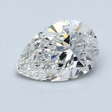 1.01-Carat Pear Diamond Very Good G SI1