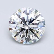 目标宝石:3.87克拉圆形切割钻石