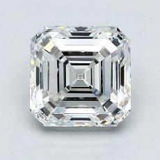 2.06-Carat Asscher Diamond Very Good H VS1