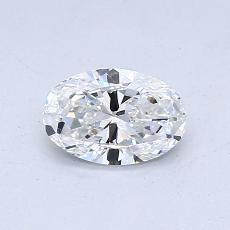 所選擇的鑽石: 0.50 克拉橢圓形切割鑽石