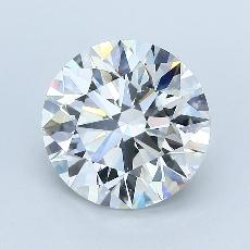 3.05-Carat Round Diamond Ideal F VS1