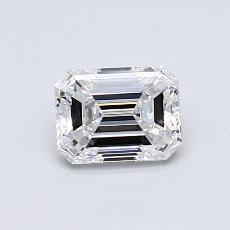 所選擇的鑽石: 0.70  克拉綠寶石形切割鑽石