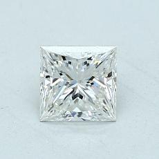 Pierre recommandée n°2: Diamant taille princesse 0,70 carat
