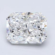 2.50-Carat Radiant Diamond Very Good E VS2