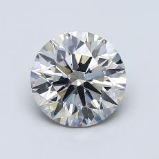 1.05 Carat 圆形 Diamond 理想 I SI1
