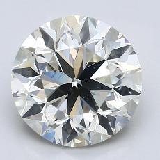 推荐宝石 1:3.70克拉圆形切割钻石
