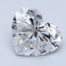 2,04-Carat Heart Diamond Very Good D SI1