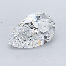 1.13 Carat 梨形 Diamond 非常好 D VVS2