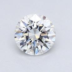 0.93-Carat Round Diamond Ideal D FL