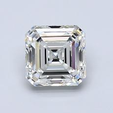 Pierre cible: Diamant taille Asscher 1,20 carat