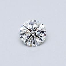 0.33 Carat 圓形 Diamond 理想 E VS2