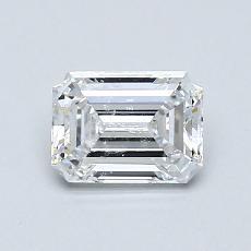 0.79-Carat Emerald Diamond Very Good D IF