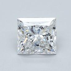 1.01 Carat Princesa Diamond Muy buena D IF