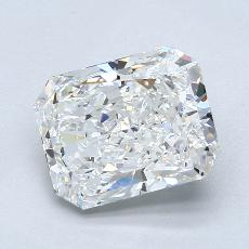 3.06-Carat Radiant Diamond Very Good F VS2