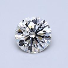 0.76 Carat 圆形 Diamond 理想 I VS1