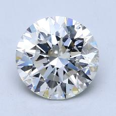 3.01-Carat Round Diamond Ideal H SI1