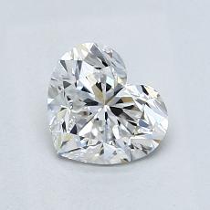 Piedra recomendada 4: Diamante con forma de corazón de 0.92 quilates