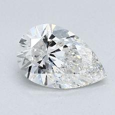 1.00-Carat Pear Diamond Very Good G VS2