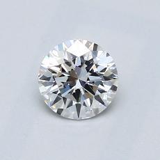 0.51-Carat Round Diamond Ideal D VVS1