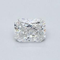 0,53-Carat Radiant Diamond Very Good E VS1