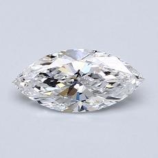 0.60-Carat Marquise Diamond Very Good D VVS1