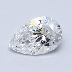 0,82-Carat Pear Diamond Very Good D SI1