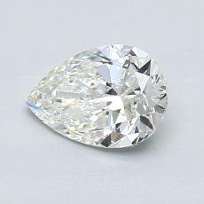 0.93-Carat Pear Diamond Very Good H VVS1