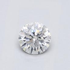 0,52-Carat Round Diamond Good F SI2