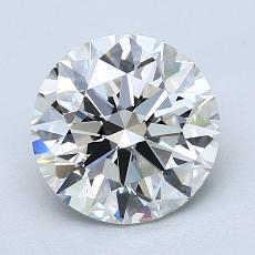 2.01-Carat Round Diamond Ideal G VVS2