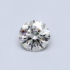 0.41-Carat Round Diamond Ideal J VVS1