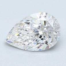 推荐宝石 1:1.21 克拉梨形切割钻石