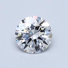 0,70-Carat Round Diamond Ideal E FL