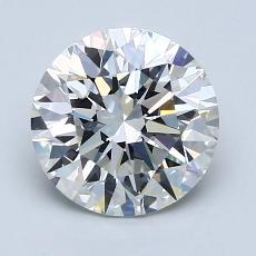 2.01-Carat Round Diamond Ideal F VVS1