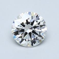 1,00-Carat Round Diamond Ideal H IF