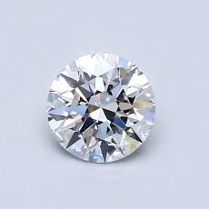 0,70-Carat Round Diamond Ideal D VVS1