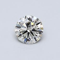 推薦鑽石 #3: 0.51 克拉圓形切割鑽石