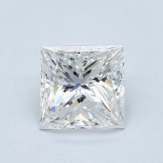 1.00 Carat 公主方形 Diamond 非常好 E VS1
