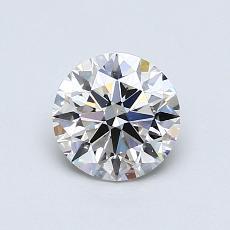 0.81-Carat Round Diamond Ideal I VS1