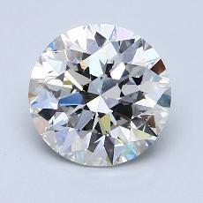 2.01-Carat Round Diamond Ideal H SI1