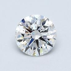 0,76-Carat Round Diamond Ideal F VVS1