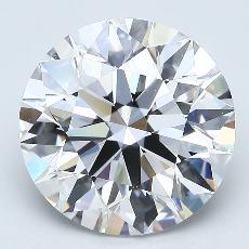 目标宝石:4.11克拉圆形切割钻石